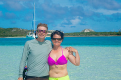 Andrew and Amanda enjoying Cambridge Cay.