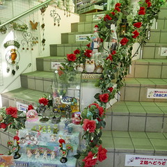 Trinkets etc in Kitano (Mark Tindale) Tags: 北野町 kitano kobe hyogo 神戸市 shopping staircase trinkets souvenirs tourist stairs display cute