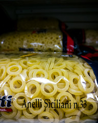Anelletti [day 116] (gerlos) Tags: pasta food kitchen italian grocery sicilian recipe sicily local 365project 365 typical store english italianfood europeanfood anyvision staplefood noodle ingredient cuisine dish labels