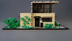 Vanilla House MOC front exterior (betweenbrickwalls) Tags: legoarchitecture lego architecture design afol toys houses home moc