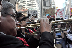 horns (greenelent) Tags: notrump protest demonstration riseandresist streets people activists nyc newyork
