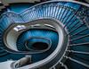 Blue Swirl (katrin glaesmann) Tags: hannover niedersachsen lowersaxony neuesrathaus newtownhall staircase treppe treppenhaus blue architecture