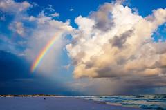 18052103 (particularlydangeroussituation) Tags: canon florida pensacolabeach navarrebeach gulfofmexico gulfislandnationalseashore rainbow beach clouds storm