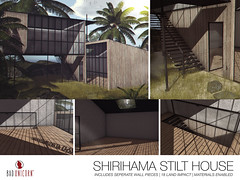 NEW! Shirihama Stilt House @ TMD (Bhad Craven 'Bad Unicorn') Tags: house japan japanese architecture stilts metal wood frames glas windows tin roof bhad • craven second 2l life lindens profile picture photography bad unicorn badunicorn clothing buc bu secondlife graphics gfx graphic design photos pics photo sl urban mesh exclusive store blog shadows high quality decor production portrait image hd definition original meshes meshed 3d game characters art gaming concept concepts new top work progress wip open