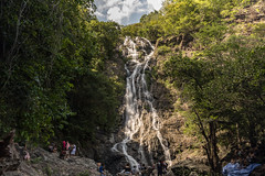 Sarika Waterfall. (mikestewartinasia) Tags: sarikariver asia sarikawaterfall nature southeastasia outdoor longexposure khaoyai trees waterfall nakhonnayok cloud sky water skyline sarika people thailand clouds outside tree