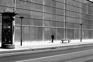 Following the glass wall