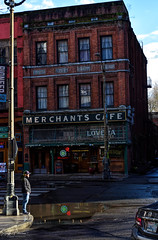 Merchant's Cafe and Saloon circa. 1890 (SonjaPetersonPh♡tography) Tags: seattle washington washingtonstate stateofwashington dominionsquare downtownseattle greatseattlefire circa1890 oldbuilding historicsite historicbuilding historic heritage heritagebuilding nikon nikond5300 brickbuilding merchantscafeandsaloon saloon cafe merchantscafe