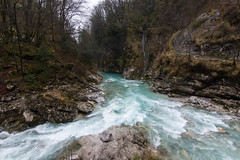 The Meeting of Two Streams (Jen Ma) Tags: tolmin gorge soca valley river stream water roaring triglav national park slovenia europe travel fast country peace zen confluence turquoise
