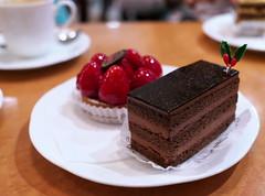 Chocolat (Long Sleeper) Tags: sweets dessert food cafe patisseriesalondethegoseki cake chocolat chocolate kichijoji tokyo japan dmcgx1