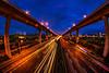 桃園中正陸橋 夜未眠 Light Trail (傑可) Tags: 桃園中正陸橋 五楊高架橋 車軌 nikon rowa 8mmfisheye lighttrail