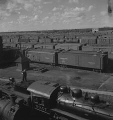 Winnipeg Train Yard, 1940s [LAC] (vintage.winnipeg) Tags: winnipeg manitoba canada vintage history historic trains
