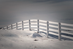 Wood Fence over Snow Covered Hill (zuni48) Tags: fence woodfence snow rural maryland baltimorecounty hff architecture minimalism