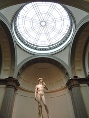 Il Davide (alieryth) Tags: travel italy sunset art sculpture renaissance michelangelo architecture lights rotonda firenze florence museum