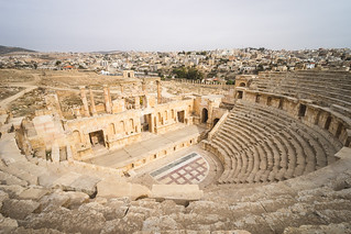 North Theater of Jerash - Jordanien Jerash