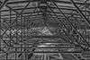 Mikado (boomer_phil) Tags: poutrelles nb beautifulexpression flickrelite nikon d500 bw intérieur mikado moderne architecture lampes usines complexes grey roof