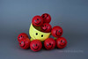 Smell The Red (jah32) Tags: red cmwdred yellow grey gray balls ball smilie smile happyface mug stilllife tabletop table onthetable