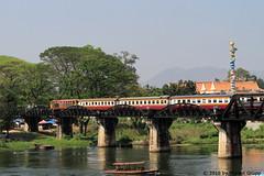 I_B_IMG_8894 (florian_grupp) Tags: southeast asia thailand siam thai train railway railroad srt staterailwayofthailand metregauge metergauge kanchanaburi deathrailway riverkwai japan ww2 bridge riverkwaibridge famous