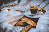 """Good morning!"" (nuriapase) Tags: aliments bodegons stilllife coffee cakes morning bed food lights breakfast esmorzar bokeh"