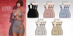 FRPSTY FITMESH DRESS (Shine Messmer - Glitter Fashion & Glitter Poses & ) Tags: glitter fitmesh sheer transparent hud lace dress