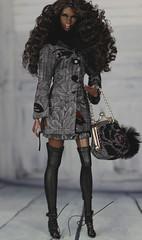 Fashion Royalty Nu Face Nadja I slay (Regina&Galiana) Tags: fashionroyalty nuface eden nadja doll barbie outfit dress coat skirt bag fr2 forsale ebay