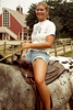 🐴 (7thound) Tags: scanned 35mm analog film portrait naturallight mounted riding camp summer uplandhillsfarm puremichigan michigan equestrian saddle horse horseback female woman teen girl