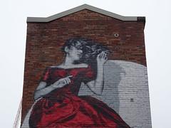 The lady in red.... (stillunusual) Tags: manchester streetphotography street manchesterstreetart art artwork publicart streetart urban urbanart urbanwalls graffiti graffitiporn mural wall wallart wallporn northernquarter nq mcr city england uk 2018