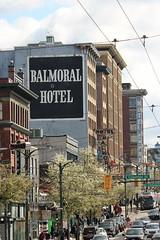 Vancouver Ghost Sign (jmaxtours) Tags: vancouverghostsign balmoralhotel ghostsign hotel sign vancouver vancouverbc