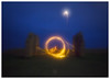 Orbital (picturedevon.co.uk) Tags: berryhead brixham torbay englishriviera devon uk night le landscape fire wirewool spinning blue orange yellow black minimal fineart ruin fort motion speed circle wall outside dark canon wwwpicturedevoncouk