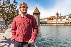 Luzern/Schweiz 2. April 2018 (karlheinz klingbeil) Tags: turm stricken see water switzerland city knitting lake mode knitwear knit schweiz tower stadt suisse wasser gestricktes luzern fashion ch