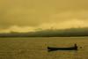 Lake Yamanaka (Koku85) Tags: lake morning sepia fisherman boat