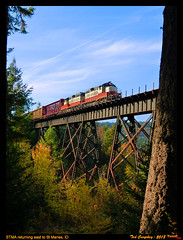 stma-pedee east trestle-id-10-9-2017a (funnelfan) Tags: railroad shortline trestle pnw fall color maries idaho