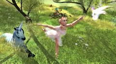 Lost Girls (Varosh Santanamiguel) Tags: fantasy fair preview 2018 exclusive {acios} alliali aa hair lost girls lindsey ballerina ballett jinx unicorn mystical mystic elves elfen dancing secondlife sim sl {aii} alirium pixie butterfly schmetterling wiese