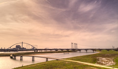 Bridges. Nijmegen. The Netherlands. (Alex-de-Haas) Tags: 24mm altijdnijmegen dji dutch gelderland gelre hdr holland nl nederland nederlands netherlands nijmegen nimwege phantom phantom4 phantom4pro waal aerial aerialphotography air beautiful beauty bridge brug cirrus city drone hemel landscape landschaft landschap lente lucht luchtfotografie mooi oldestcity oudstestad river rivier schoonheid skies sky spring stad town urban water