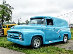1956? Ford Panel Truck (J Wells S) Tags: 1956fordpaneltruck ford streetrod magwheels pinstriping cincystreetrodscarshowandswapmeet butlercountyfairgrounds hamilton ohio oldschool