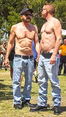 Men Holding Hands (LarryJay99 ) Tags: pridefest2018 2018 lakeworth florida festival shirtless jeans men male man guy guys dude dudes glasses bellybuttons bellies chests chesthair malecouple gayboyfriends handholding holdinghands pda