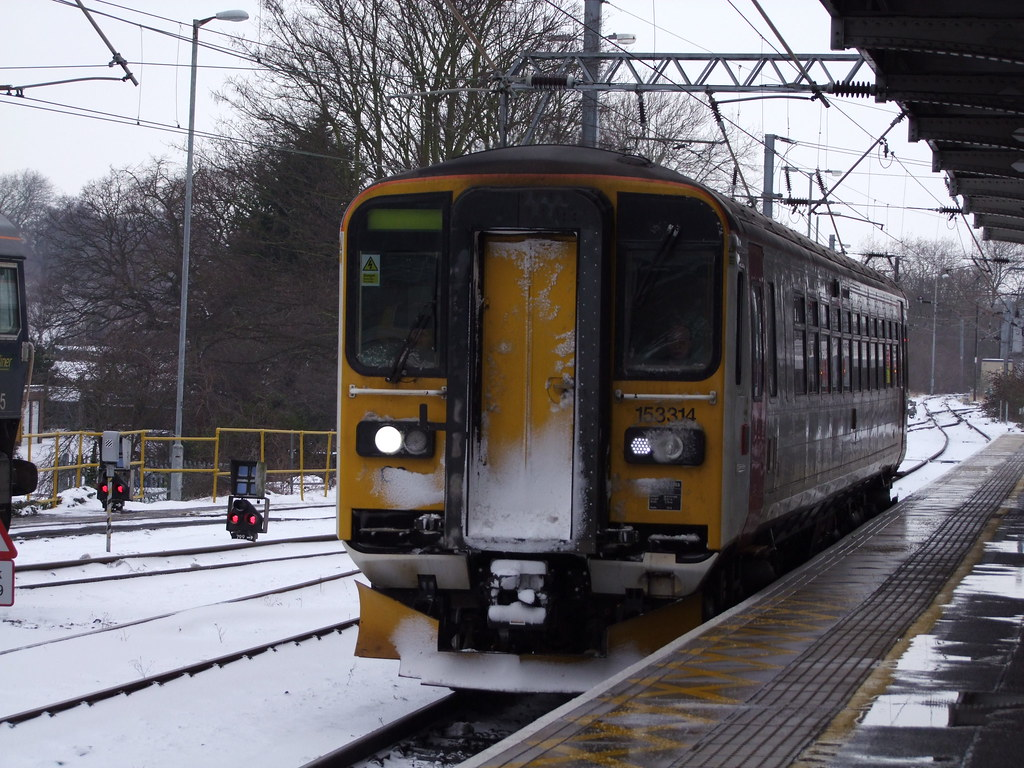AGA 153314 arrives at Ipswich with the delayed 2W17 1244 Cambridge to  Ipswich service 01-