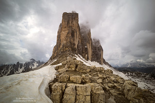 Thunderstorms nearing Tre Cime
