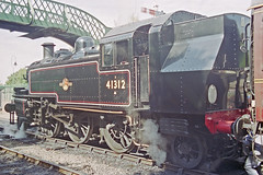 LMS 2-6-2T 41312 at Alresford Station, 31 Aug 2000 (Ian D Nolan) Tags: station 35mm epsonperfectionv750scanner alresfordstation lms 262t 41312 2mt