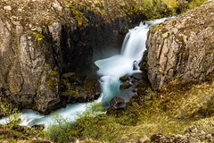 Waterfall in Mjadmá (Einar Schioth) Tags: water waterfall walley eyjafjordur day river rocks rock summer canon coast cliff canyon vividstriking nationalgeographic ngc nature landscape photo picture outdoor iceland ísland einarschioth