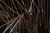Pointy Ends (adamopal) Tags: canon canon7d canon7dmkii canon7dmarkii pointyends pointy pins metalpins mess accident disastershot diagonal experimental randomshot random macro macro100mm 100mm black grey silver white