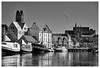 Wismar - Old harbor 2 (mechanicalArts) Tags: wismar alter hafen old harbor bw sw baltic sea ostsee hotel new orleans