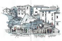 Casas del Puerto Viejo de Algorta (P.Barahona) Tags: urbano arquitectura casas ventanas escaleras urbansketcher urbansketchers bilbao algorta getxo