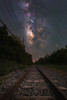 Train Tracks To The Stars (Mike Ver Sprill - Milky Way Mike) Tags: composite milky way galaxy mike travel railroad rail road tracks train leading lines lead perspective nightscape night sky chasers beautiful surreal explore landscape nature dark skies astrophotography astronomy learn tutorials ioptron star tracker