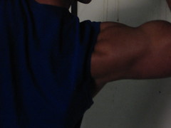 BIG BULGING BICEPS (FLEX ROGERS) Tags: muscles muscular huge bicep biceps bodybuilding bodybuilder pecs abs flex flexing guns delts traps workout fit fitness ripped big wellbuilt welldeveloped exercise18inchbiceps