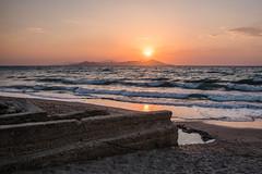 Greek Sunset (Kos) (Amren1985) Tags: kos greece greek sunset water beach micro four third leica15mmf17 panasonic sea sun set magic hour
