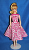 Pink Floral Japan Dress (toomanypictures1) Tags: ooakclothes barbie francie curvy reproduction american girl made move mattel