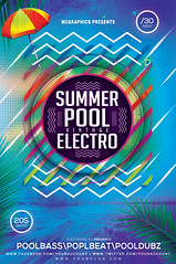 SUMMER POOL VINTAGE ELECTRO (movingclays) Tags: adobe artist beatport colors dance dj dubstep edm electro festival flyer futuristic graphic guest house indie instagram itunes millennial model modern neon nightclub party psd rock soundcloud speaker techno template