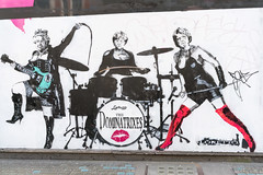 The Dominatrixes (NekoJoe) Tags: angelamerkel england gbr geo:lat=5151465257 geo:lon=013781726 geotagged graffiti london loretto soho stencilgraffiti streetart thedominatrixies thequeen theresamay unitedkingdom