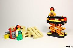 Elevator - (Orange version) (Devid VII) Tags: devidvii devid vii moc lego elevator orange hangar