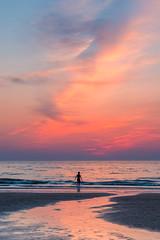 Walking on water! (karindebruin) Tags: nederland noordholland northsea scheveningen thenetherlands zonsondergang zuidholland beach clouds ferrywheel jetty pier reuzenrad strand sunset water wolken